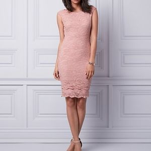 Pink Lace Dress P/S (Tight-Fit)